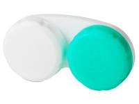 alensa.ua - Контактні лінзи - Контейнер для лінз зелено-білий