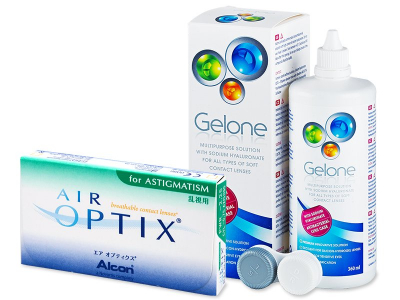 Air Optix for Astigmatism (6 шт.) + розчин Gelone 360 ml