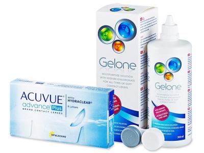 Acuvue Advance PLUS (6шт.) +розчинGelone360ml