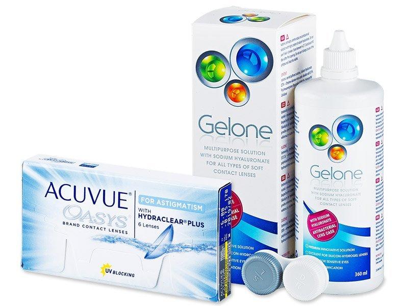 Acuvue Oasys for Astigmatism (6шт.) +розчинGelone360ml