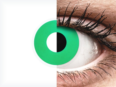 ColourVUE Crazy Lens - Emerald (Green) - недіоптричні (2 шт.)
