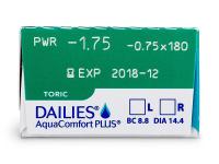 Dailies AquaComfort Plus Toric (30шт.)