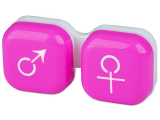 alensa.ua - Контактні лінзи - Контейнер для лінз man&woman - рожевий