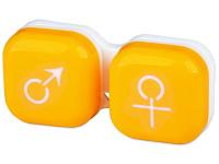 Контейнер для лінз man&woman - жовтий