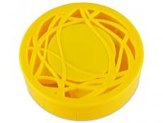 Кейс для лінз з орнаментом - жовтий