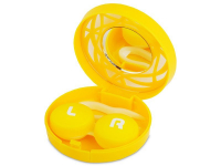 alensa.ua - Контактні лінзи - Кейс для лінз з орнаментом - жовтий