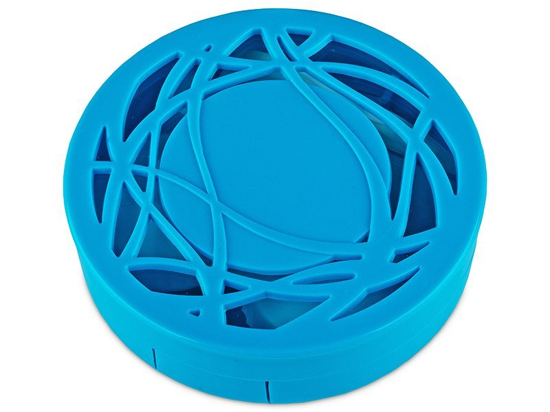 Кейс для лінз з орнаментом - блакитний