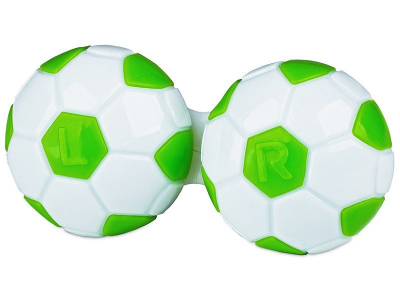 Контейнер для лінз Football - зелений
