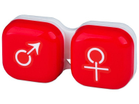 Контейнер для лінз man&woman - червоний