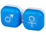 alensa.ua - Контактні лінзи - Контейнер для лінз man&woman - блакитний