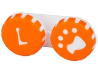 alensa.ua - Контактні лінзи - Контейнер для лінз Paw помаранчевий