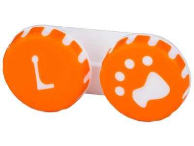 Контейнер для лінз Paw помаранчевий