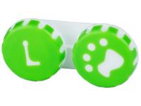 alensa.ua - Контактні лінзи - Контейнер для лінз Paw зелений