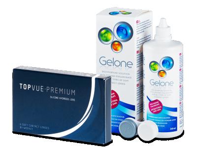 TopVue Premium (6 лінз) + розчин Gelone 360 мл.