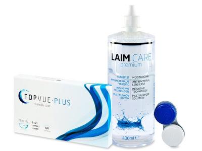 TopVue Monthly Plus (6 лінз) + pозчин LAIM-CARE400мл.