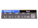 Biofinity Toric (3шт.)
