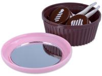 alensa.ua - Контактні лінзи - Кейс для лінз з дзеркальцем Muffin - pink