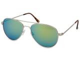 alensa.ua - Контактні лінзи - Сонцезахисні окуляри Silver Aviator - Blue/Green
