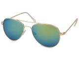 alensa.ua - Контактні лінзи - Сонцезахисні окуляри Gold Aviator - Blue/Green