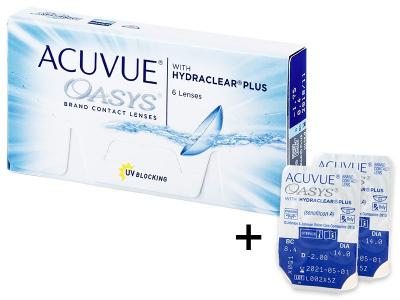 Acuvue Oasys (6 лінз) + 2 лінзи БЕЗКОШТОВНО