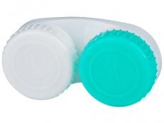 Контейнер для лінз зелено-білий L/R