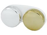Контейнер для контактних лінз з дзеркальним покриттям  – золото/срібло