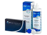 TopVue Premium (6 лінз) + розчин AQ Pure 360 ml БЕЗКОШТОВНО