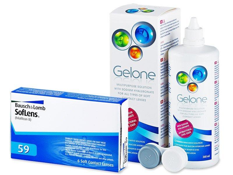 SofLens 59 (6шт.) +розчинGelone360ml